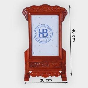 Khung ảnh thờ gỗ Hương đục nền cao cấp đẹp giá tốt ở Hà Nội   Khung ảnh thờ