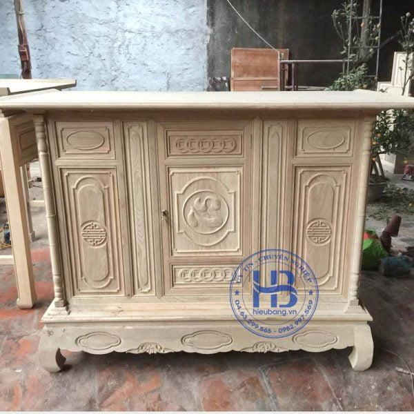 Tủ thờ gỗ Sồi đẹp giá rẻ ở Hà Nội | Mẫu Tủ thờ | Cửa hàng Hiếu Bằng