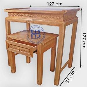 Bàn thờ chung cư gỗ Sồi 127x81cm Đẹp giá rẻ ở Hà Nội | Nhiều mẫu đẹp