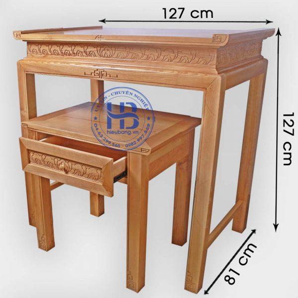 Bàn thờ chung cư gỗ Sồi 127x81cm Đẹp giá rẻ ở Hà Nội   Nhiều mẫu đẹp