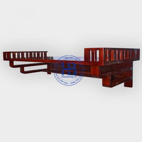 Bàn thờ treo tường gỗ Sồi màu gụ 127cm Đẹp giá rẻ ở Hà Nội | Bàn thờ treo