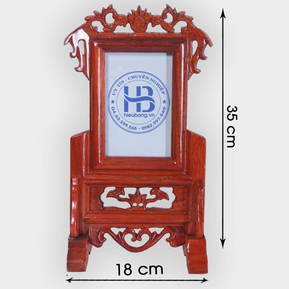 Khung ảnh thờ gỗ Hương 13x18cm đẹp giá rẻ ở Hà Nội | Cửa hàng Hiếu Bằng