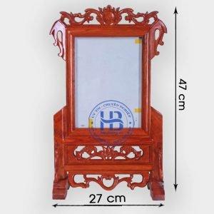 Khung ảnh thờ gỗ Hương 18x24cm đẹp giá rẻ ở Hà Nội   Khung thờ   Cửa hàng Hiếu Bằng