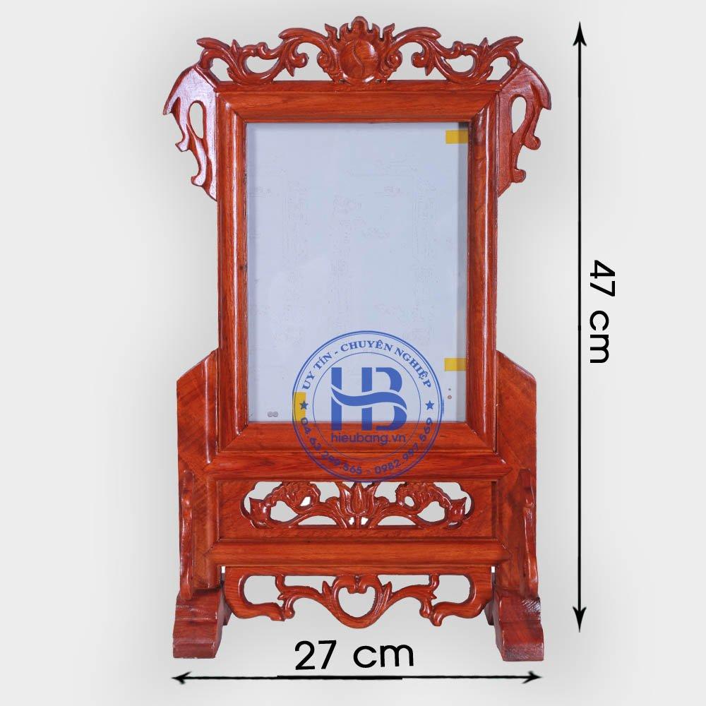 Khung ảnh thờ gỗ Hương 18x24cm đẹp giá rẻ ở Hà Nội | Khung thờ | Cửa hàng Hiếu Bằng