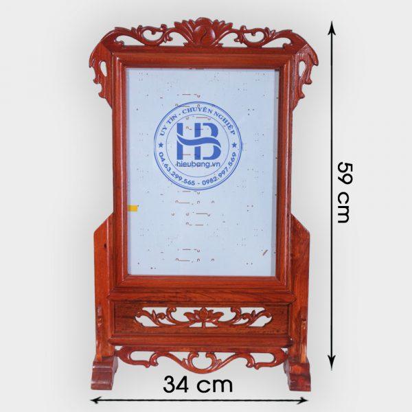 Khung ảnh thờ gỗ Hương 25x35cm Đẹp Giá Rẻ ở Hà Nội | Khung ảnh thờ đẹp