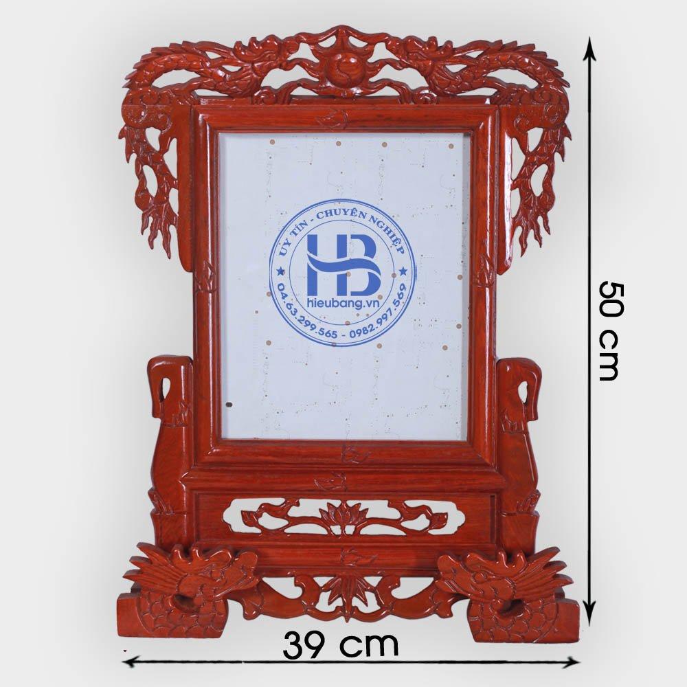 Khung ảnh thờ gỗ Hương chân Rồng 20x25cm đẹp giá rẻ ở Hà Nội | Cửa hàng Hiếu Bằng