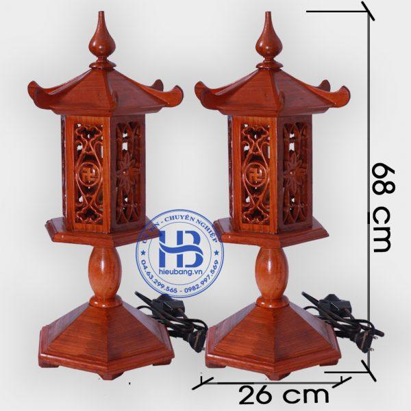 Đèn thờ bằng gỗ Hương to 68cm đẹp giá rẻ ở Hà Nội | Đèn thờ