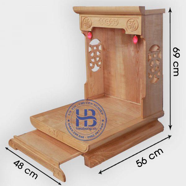 Bàn thờ thần tài gỗ Sồi hiện đại đẹp giá rẻ ở Hà Nội | Bàn thần tài ông địa
