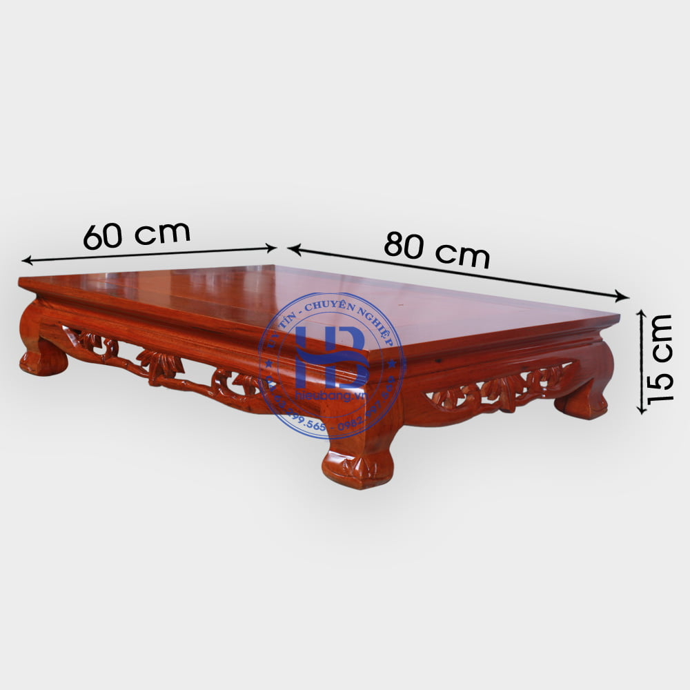 Bàn Osin gỗ Gụ 60x8cm đẹp ở Hà Nội | bàn ôsin