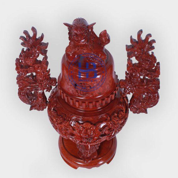Đỉnh thờ bằng gỗ Hương 55cm đẹp giá rẻ ở Hà Nội | Đồ thờ đẹp giá tốt