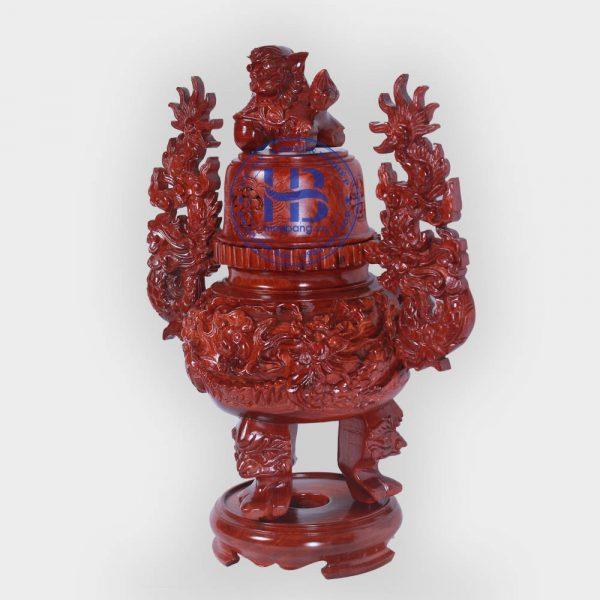 Đỉnh thờ bằng gỗ Hương 55cm đẹp giá rẻ ở Hà Nội | Đồ thờ đẹp giá rẻ
