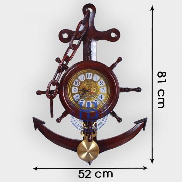 Đồng hồ mỏ neo quả lắc gỗ hương đẹp giá rẻ ở Hà Nội   Đồ hồ bằng gỗ