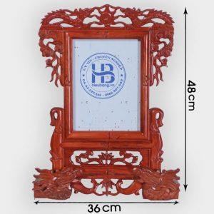 Khung ảnh thờ gỗ Hương chân Rồng 18x24cm đẹp giá rẻ ở Hà Nội   Khung thờ