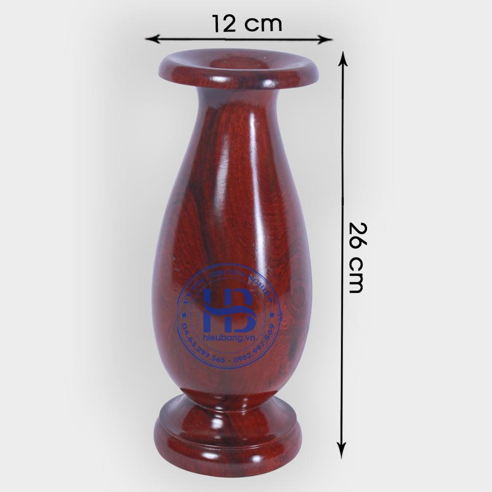 Lọ Hoa Bằng Gỗ Hương 26cm Đẹp Giá Rẻ ở Hà Nội   Đồ Thờ Bằng Gỗ