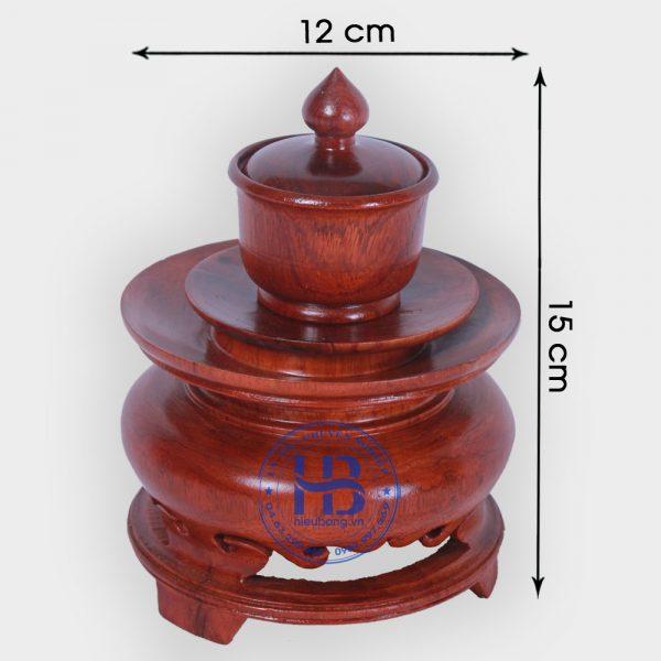 Ly nước thờ bằng gỗ Hương đẹp giá rẻ ở Hà Nội | Đồ thờ