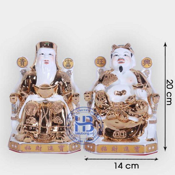 Cặp thần tài ông địa vàng kim cao cấp 20cm đẹp giá tốt ở Hà Nội
