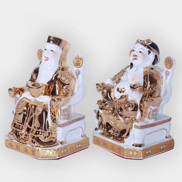 Cặp thần tài ông địa vàng kim cao cấp đẹp giá tốt ở Hà Nội | Ông tài địa