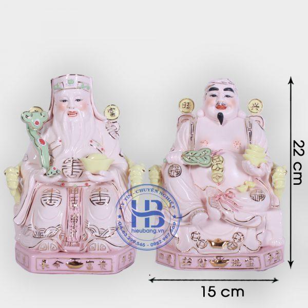 Cặp thần tài ông địa Hồng cao cấp 22cm đẹp giá tốt ở Hà Nội | Ông tài địa