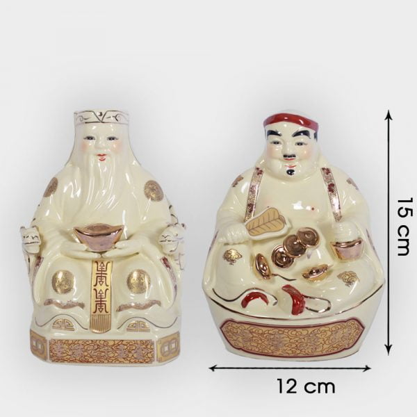 Cặp thần tài ông địa vàng 15cm đẹp giá tốt ở Hà Nội