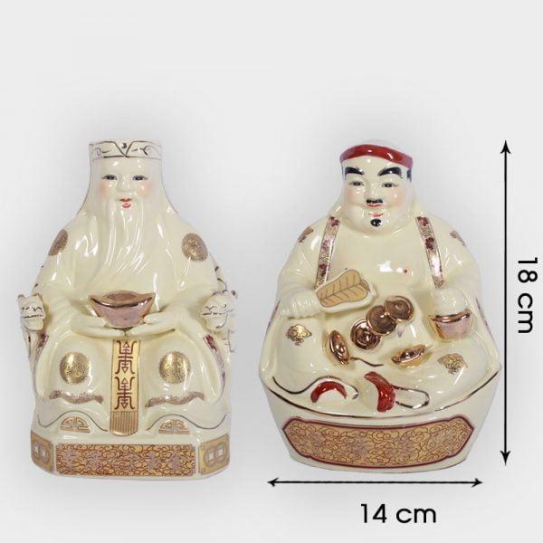 Cặp thần tài ông địa vàng 18cm đẹp giá tốt ở Hà Nội   Đồ thờ thần tài