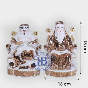 Cặp thần tài ông địa vàng Kim 18cm đẹp giá rẻ ở Hà Nội