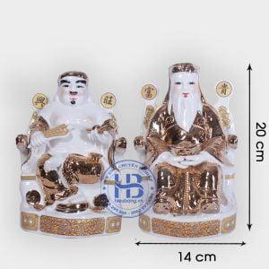 Cặp thần tài ông địa vàng Kim 20cm đẹp giá rẻ ở Hà Nội