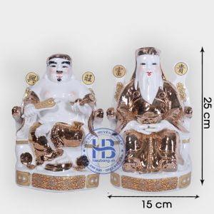 Cặp thần tài ông địa vàng Kim 25cm đẹp giá rẻ ở Hà Nội Thần tài ông địa