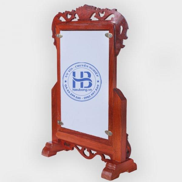 Khung ảnh thờ gỗ Hương chân thấp đẹp ở Hà Nội