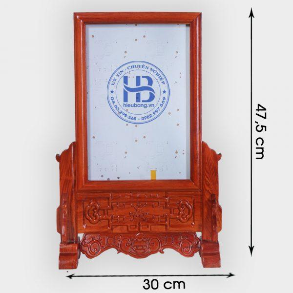 Khung ảnh thờ gỗ Hương đục nền chân 20x30cm đẹp ở Hà Nội