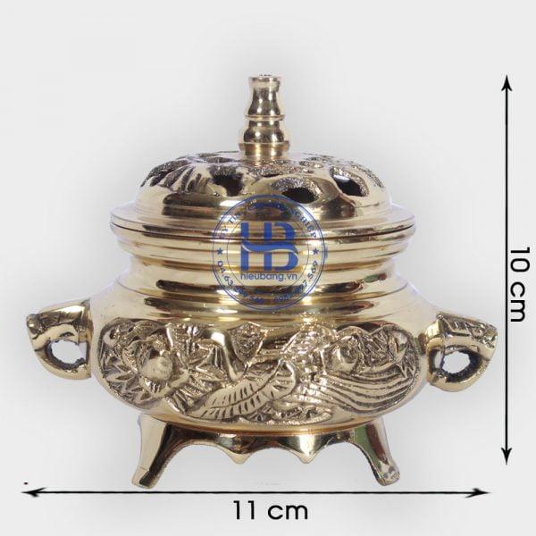 Lư xông trầm bằng Đồng đẹp ở Hà Nội | Đồ xông trầm