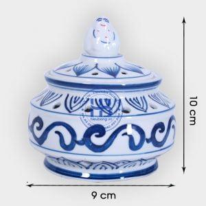Lư xông trmaf bằng sứ Xanh 10cm đẹp giá rẻ ở Hà Nội