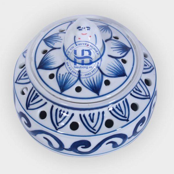 Lư xông trmaf bằng sứ Xanh đẹp giá rẻ ở Hà Nội