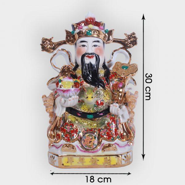 Ông thần tài phát lộc gấm 30cm đẹp giá rẻ ở Hà Nội