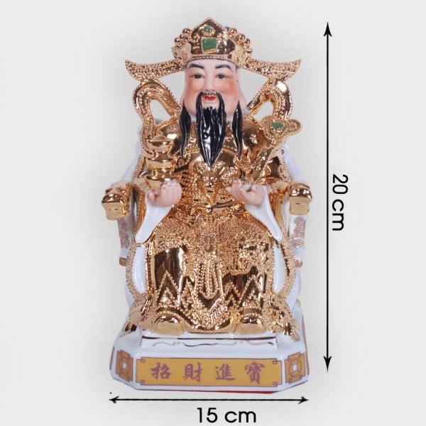 Ông thần tài phát lộc vàng kim cao cấp 20cm đẹp ở Hà Nội