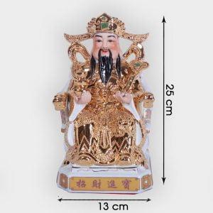 Ông thần tài phát lộc vàng kim cao cấp 25cm đẹp ở Hà Nội