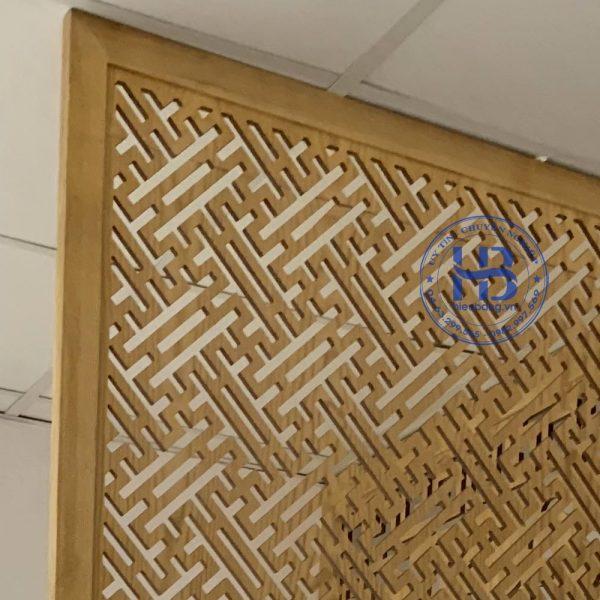 Vách ngăn phòng thờ gỗ sồi đẹp giá rẻ ở Hà Nội |Vách ngăn