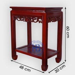 Đôn kê gỗ Gụ mặt 48x30cm, cao 60cm