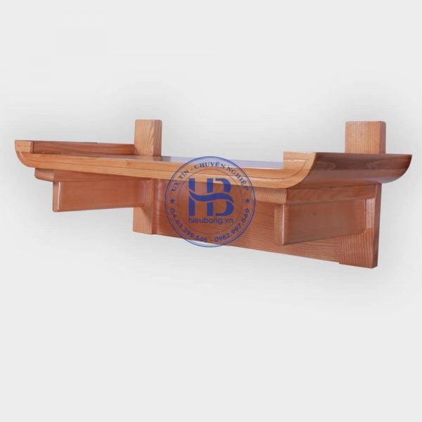 Bàn thờ phật treo tường bằng gỗ sồi đẹp ở Hà Nội