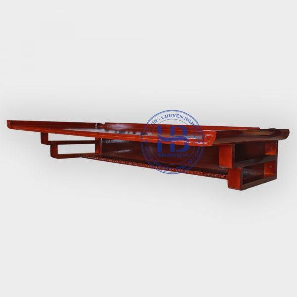 Bàn thờ treo tường gỗ Pomu màu gụ 127x61cm đẹp giá rẻ ở Hà Nội