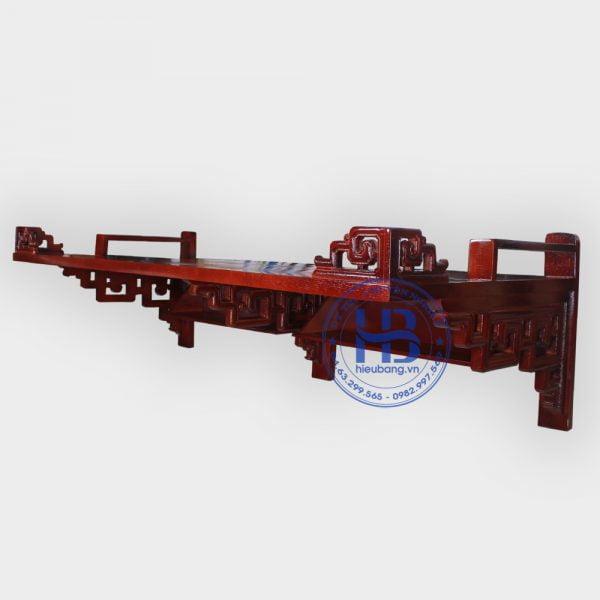 Bàn thờ treo tường gỗ sồi màu gụ 137x61cm đẹp giá rẻ ở Hà Nội