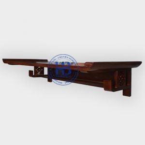 Bàn thờ treo tường gỗ Sồi màu óc chó 127x61cm đẹp giá rẻ ở Hà Nội