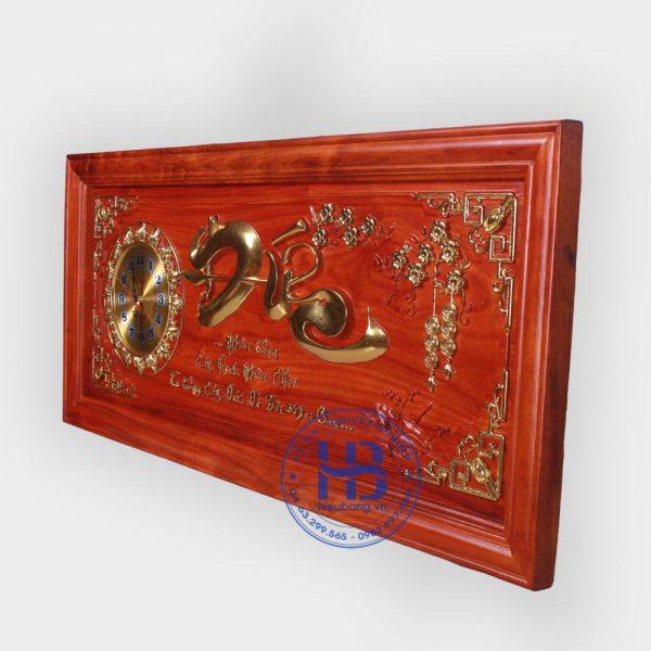 Đồng hồ tranh gỗ Hương chữ Đức đẹp giá rẻ ở Hà Nội