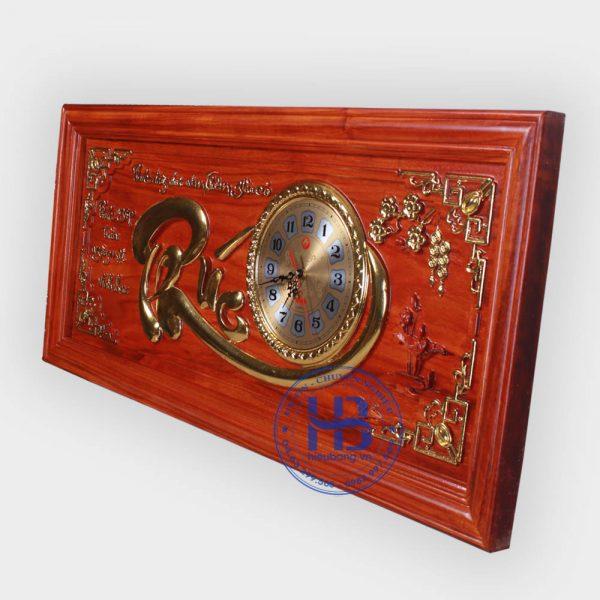 Tranh gỗ đồng đồng hồ chữ Phúc đẹp giá rẻ ở Hà Nội - Cửa hàng Hiếu Bằng
