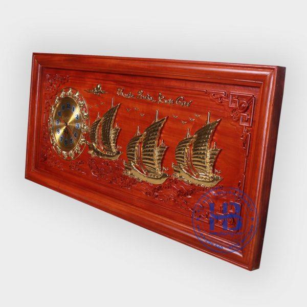 Đồng hồ tranh gỗ Hương Thuận Buồm Xuôi Gió giá rẻ ở Hà Nội