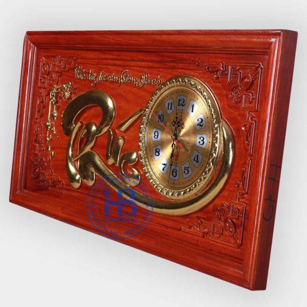 Tranh gỗ đồng đồng hồ chữ Phúc đẹp giá rẻ ở Hà Nội
