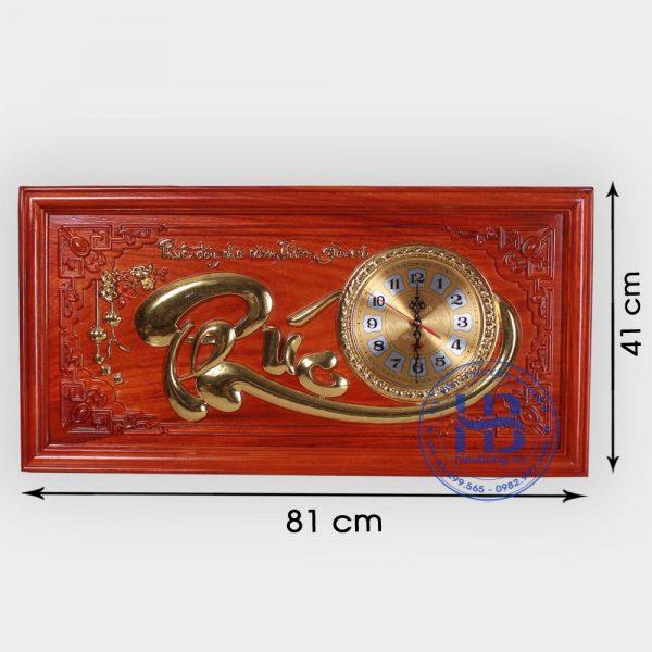 Tranh gỗ đồng hồ chữ Phúc 41x81cm đẹp giá rẻ ở Hà Nội
