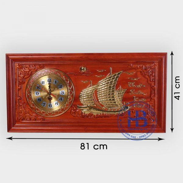 Tranh gỗ đồng hồ Thuận Buồm Xuôi Gió đẹp giá rẻ ở Hà Nội