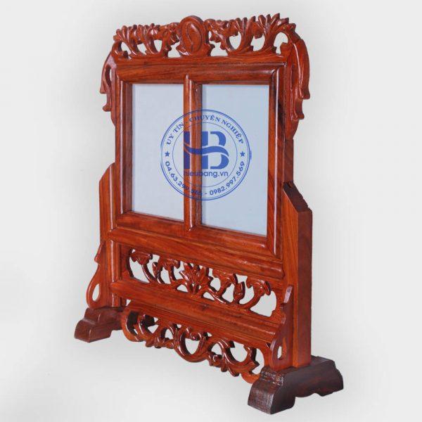 Khung ảnh thờ đôi gỗ Hương 13x18cm đẹp ở Hà Nội