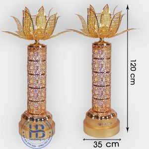 Đèn thờ Hoa Sen thân Dừa 120cm cao cấp đẹp ở Hà Nội