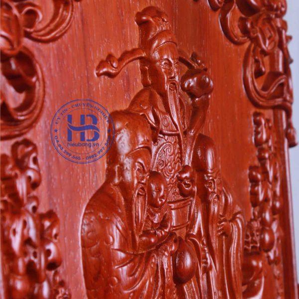 Đốc lịch gỗ Hương Phúc Lộc Thọ không rác vàng đẹp giá rẻ ở Hà Nội